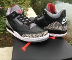 "Authentic Air Jordan 3'88 ""Black Cement"""