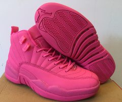 Air Jordan 12 Retro All Pink 2016 Women Shoes