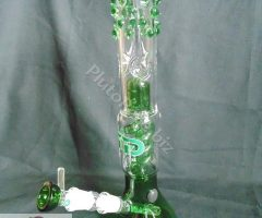 """GREEN SPIRAL"" GRACE GLASS DESIGNER BONG"