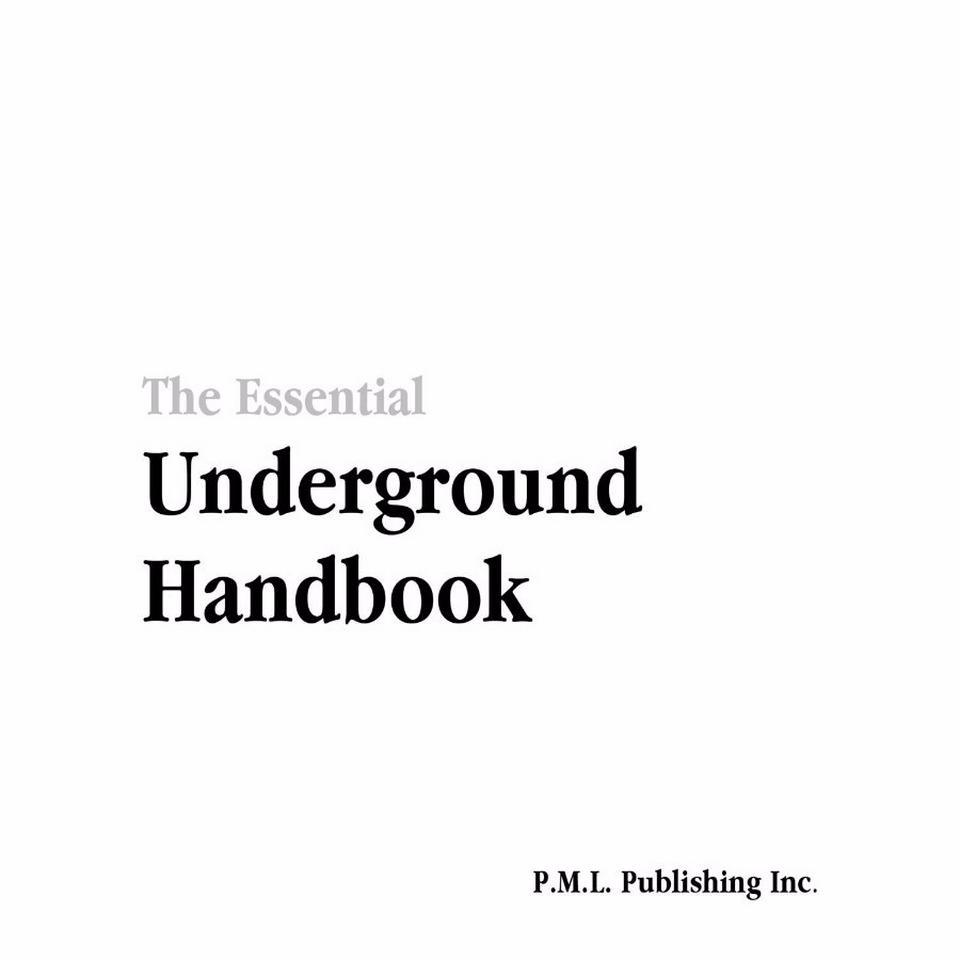 The Essential Underground Handbook   Start New Identity