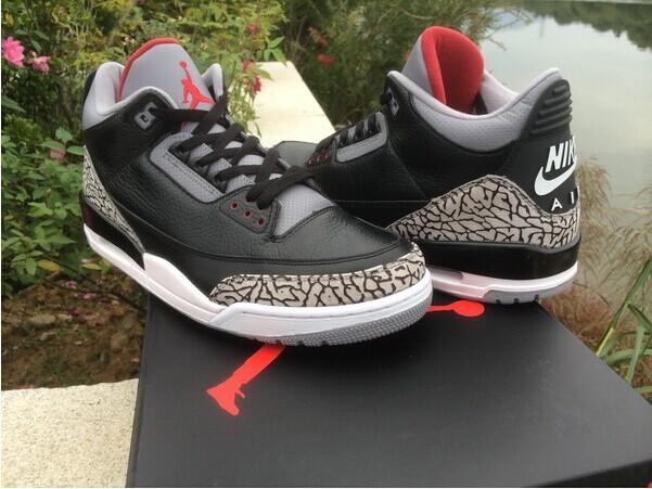 "Authentic Air Jordan 3'88 ""Black Cement"""