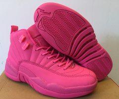 Air Jordan 12 Retro All Pink 2016 Women Shoes