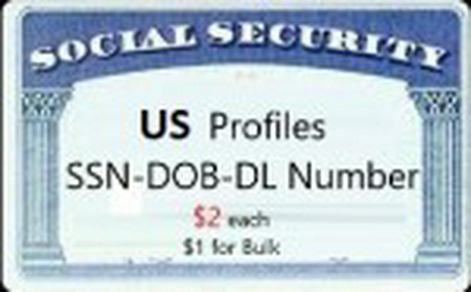 Quality US Fulls [SSN-DOB-DL & More]